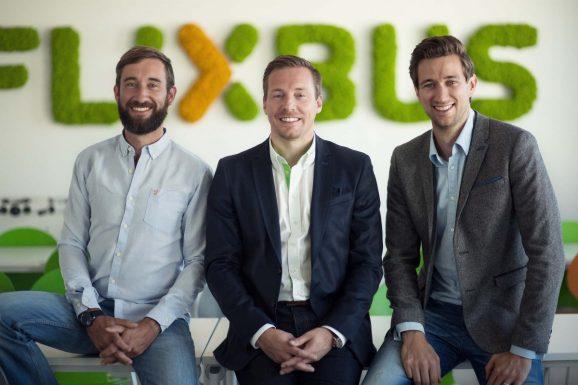 FlixBus co-founders (left to right) D.Krauss-A.Schwmmlein-J.Engert