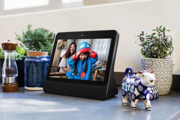 Facebook Portal with Messenger video calls and Amazon's Alexa