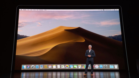 Apple CEO Tim Cook introduces the company's latest MacBook Air in Brooklyn, NY, on October 30, 2018.