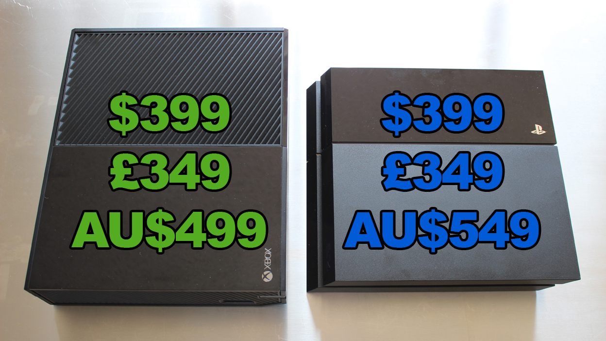 Xbox One vs PS4 price