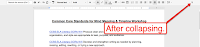 One Click Provides More Room to Work in Google Docs