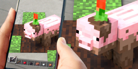Minecraft Earth brings the block-building gameplay into the real world.
