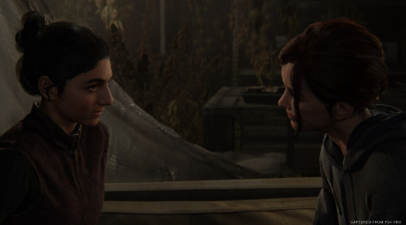 Dina and Ellie in The Last of Us Part II.